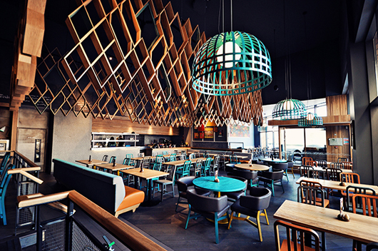 New restaurant nando s in ashford uk designed by