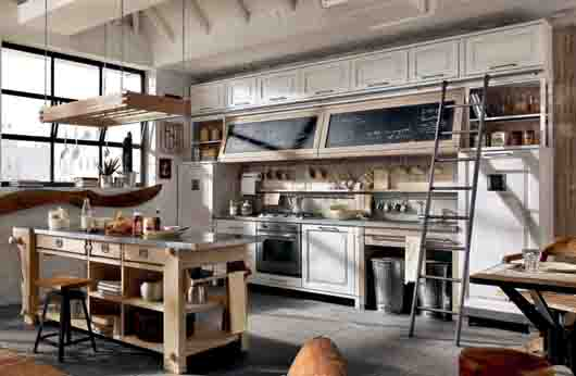Marchi group shows its vintage style kitchens at eurocucina 2012 in milan - Marchi group cucine ...
