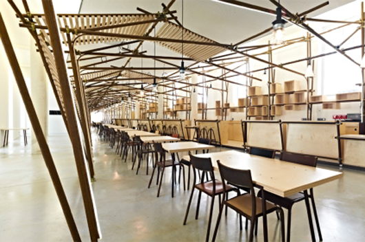 1024 architecture designs 24 lines an art installation for the hall and caf at the art centre. Black Bedroom Furniture Sets. Home Design Ideas