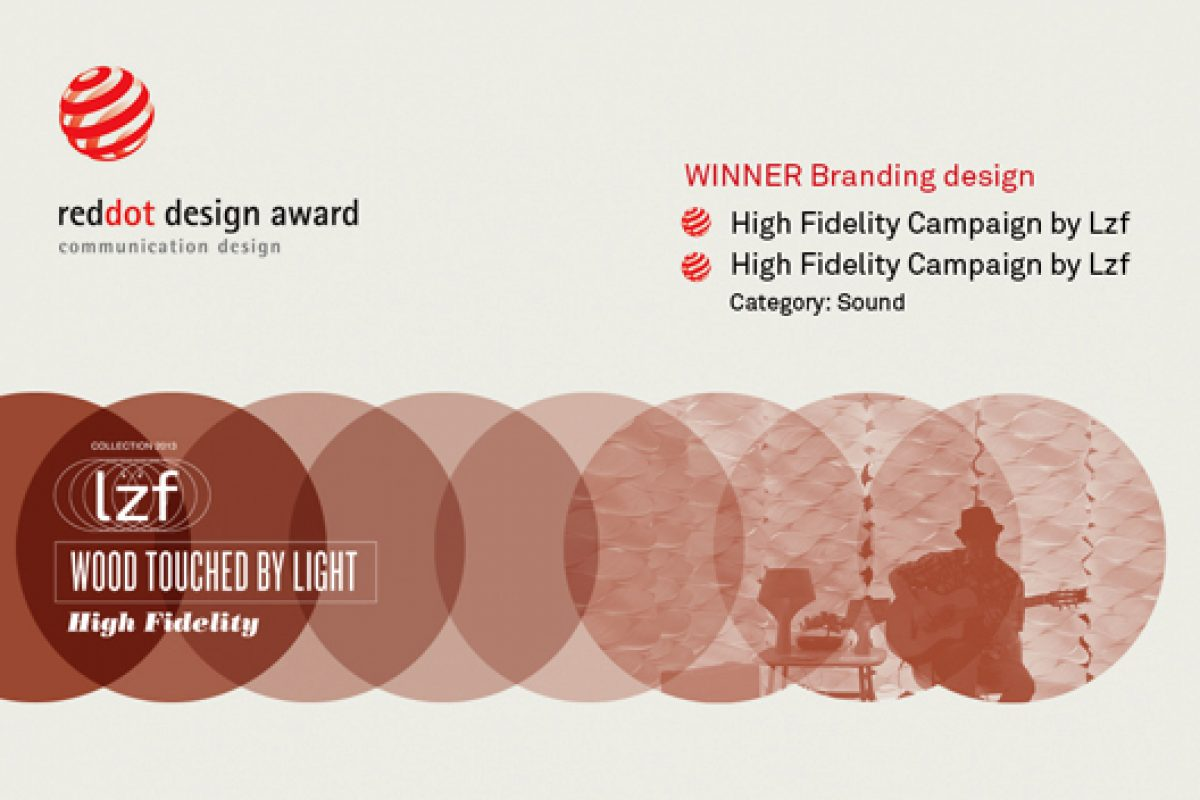 LZF Lamps doubly awarded at Red Dot Design Awards 2013 for its High Fidelity campaign