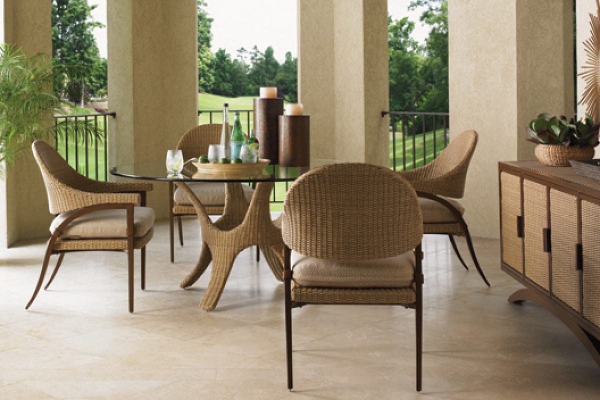 Contemporary outdoor living gets a chic new look with Aviano and Blue Olive from Tommy Bahama