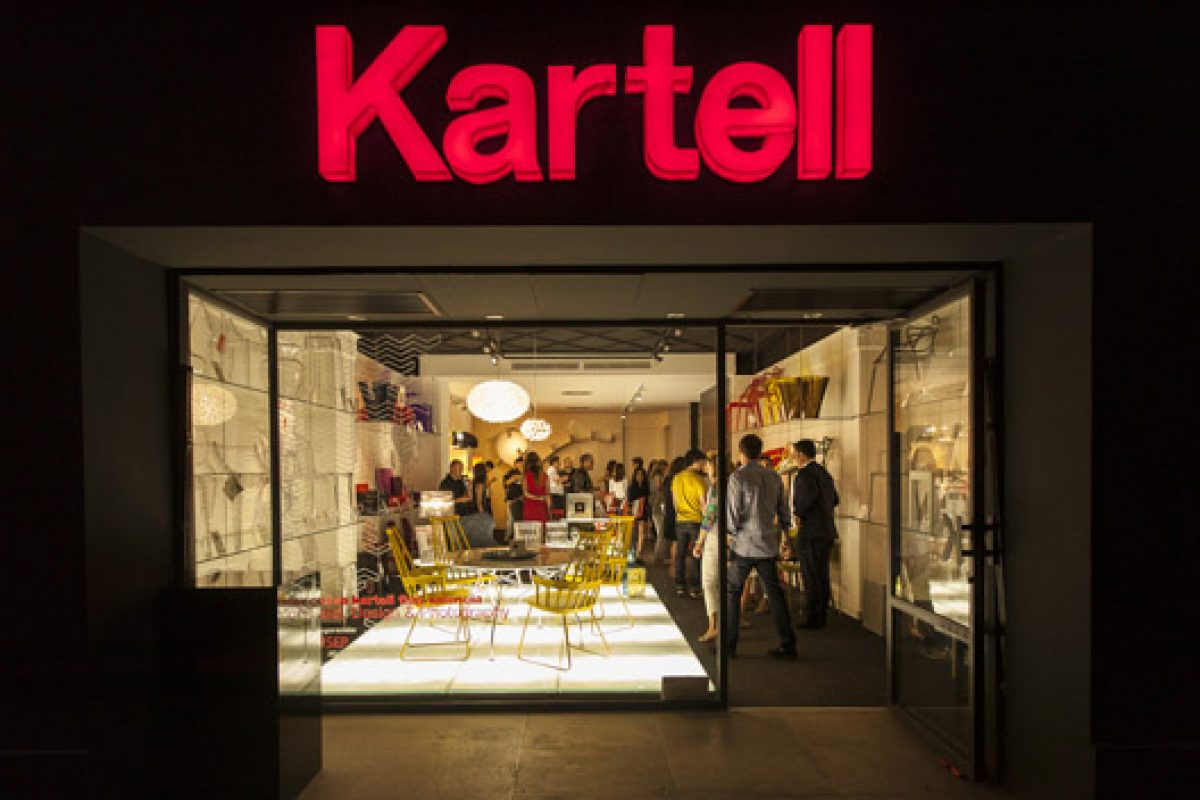 Awesome staging and attendance at the opening of the new Kartell flagship in Valencia