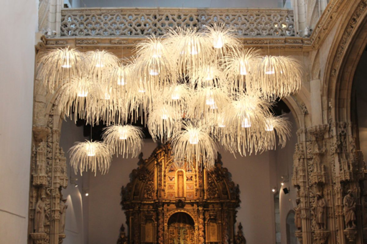 Tina Lamp by Arturo Alvarez enlightens pilgrims on the Way of St. James