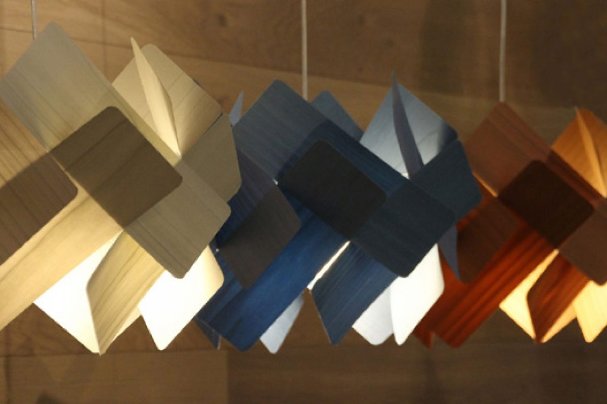 Escape, the lamp designed by Ray Power for Lzf Lamps. The domino effect in lighting