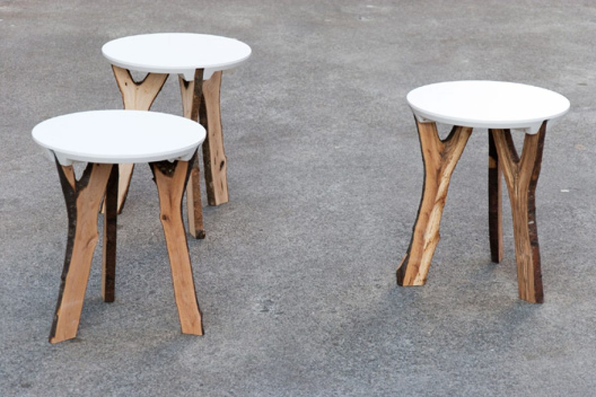 Branch stool by SchindlerSalmeron, nature and technology merger
