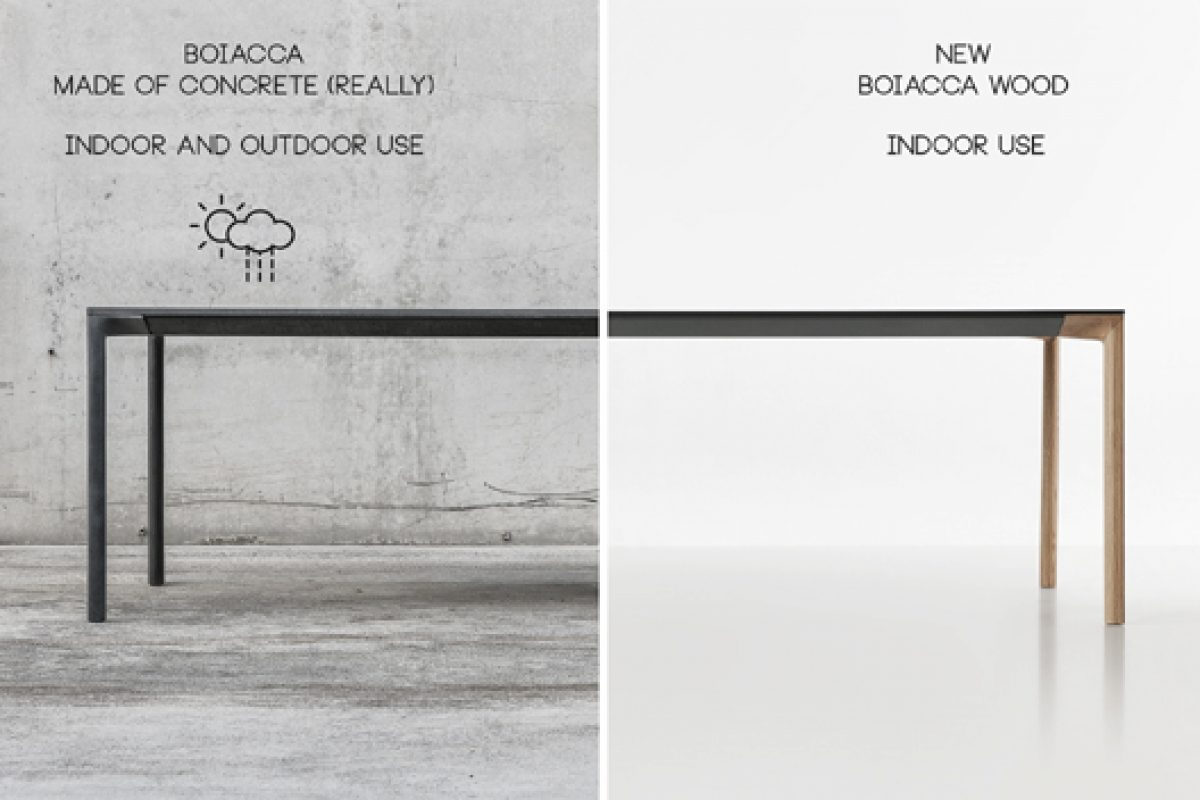 Boiacca Wood, the new version for the tables collection designed by LucidiPevere for Kristalia