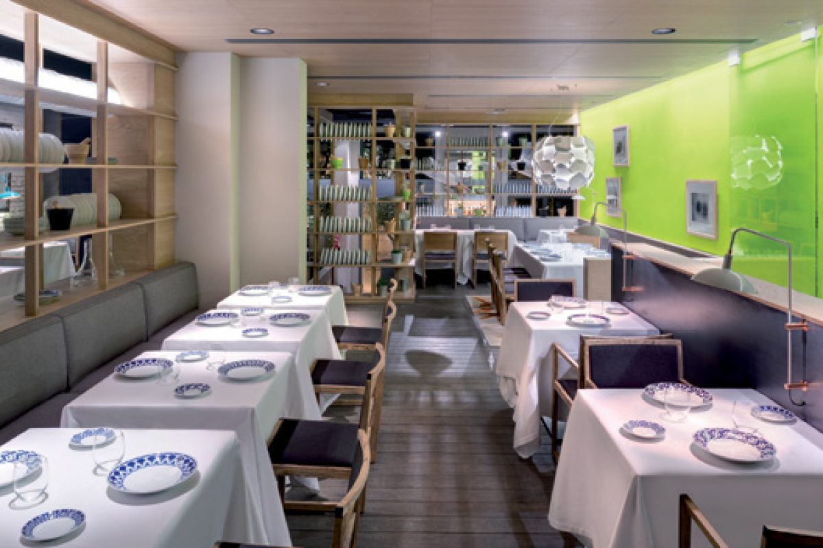 Lagranja creates a relaxed contemporary atmosphere for Michelin starred chef Nandu Jubany's new restaurant
