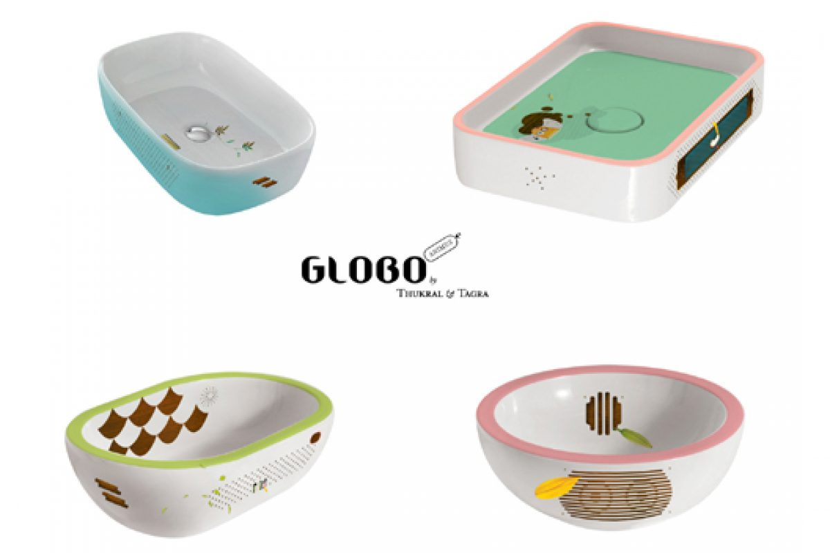 Milan 2014 preview: Animus sinks collection designed by Thukral & Tagra for Globo