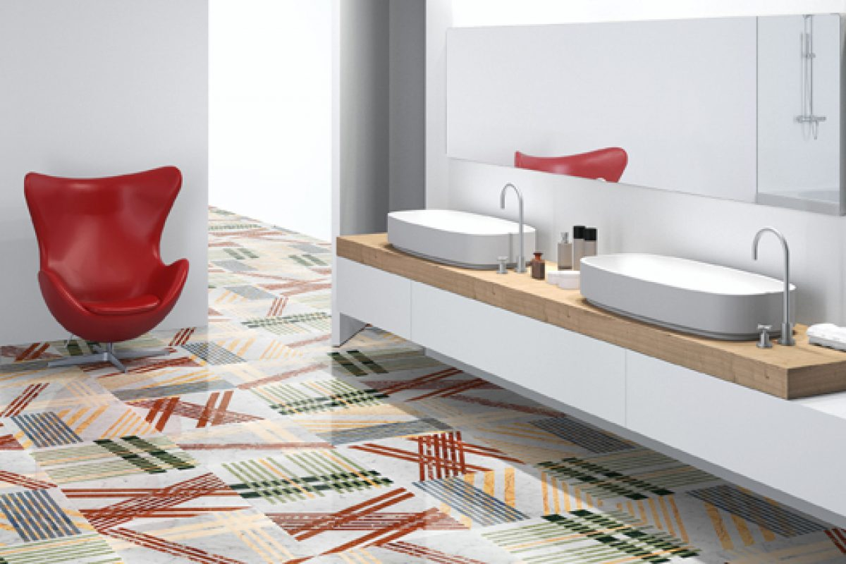 Lithos Design presents Opus, an exciting modern-day expression of industrial stone design applied to the art of inlay work