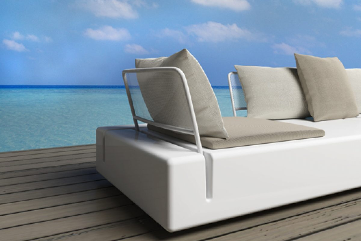 KES of Vondom, a modular system seating for furnishing outdoor spaces designed by Gabriele + Oscar Buratti