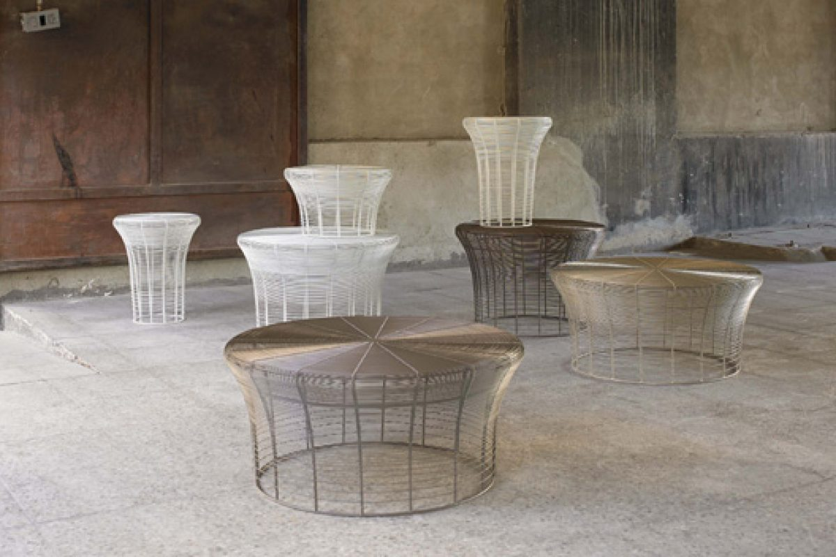 Nendo uses Indian technique of weaving metal wires to design the Aram collection for Gandía Blasco