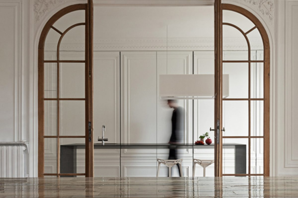 Invisible kitchen by i29 interior architects. The design is reduced to it's absolute minimum