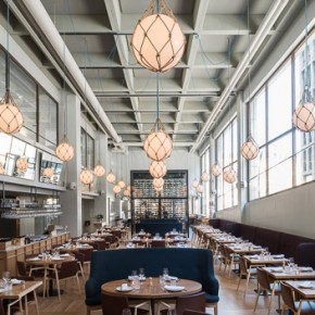 Futudesign Oy chooses Malmö chair by Pedrali for the Bronda Restaurant. A corner of Mediterranean in the hearth of Helsinki