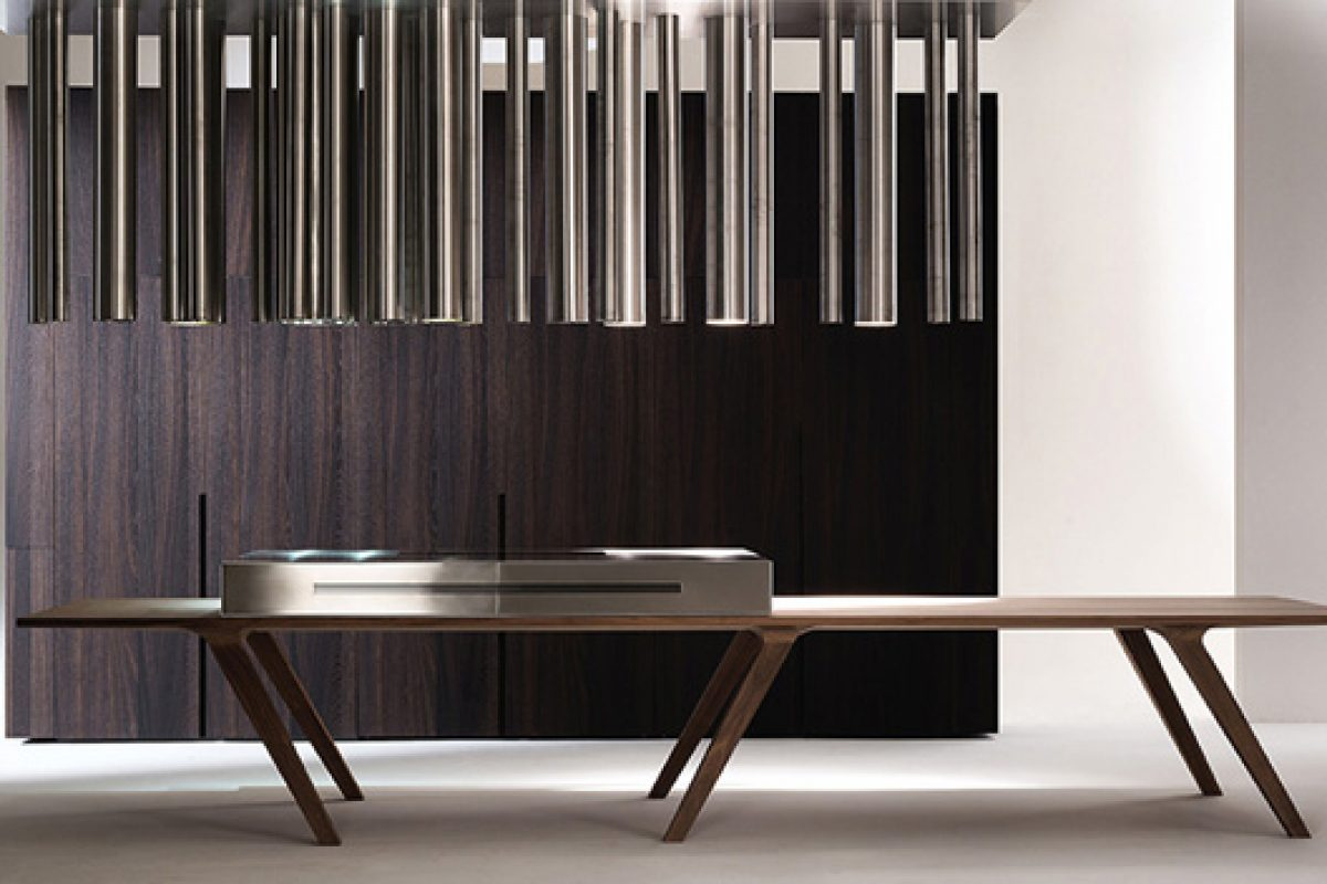 Technology and functionality in the modern kitchen @home designed by C+S Architects for .elmar Cucine