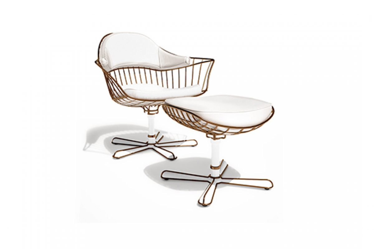Nodo lounge chair, new elegant piece of the Nodo collection by Myface for this Autumn