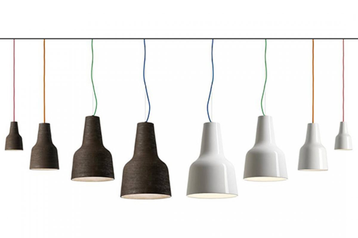 Eva ceiling lamp in all sizes: Mega, Maxi, Media, Mini. A design by Hans Thyge Raunkjær for Modoluce