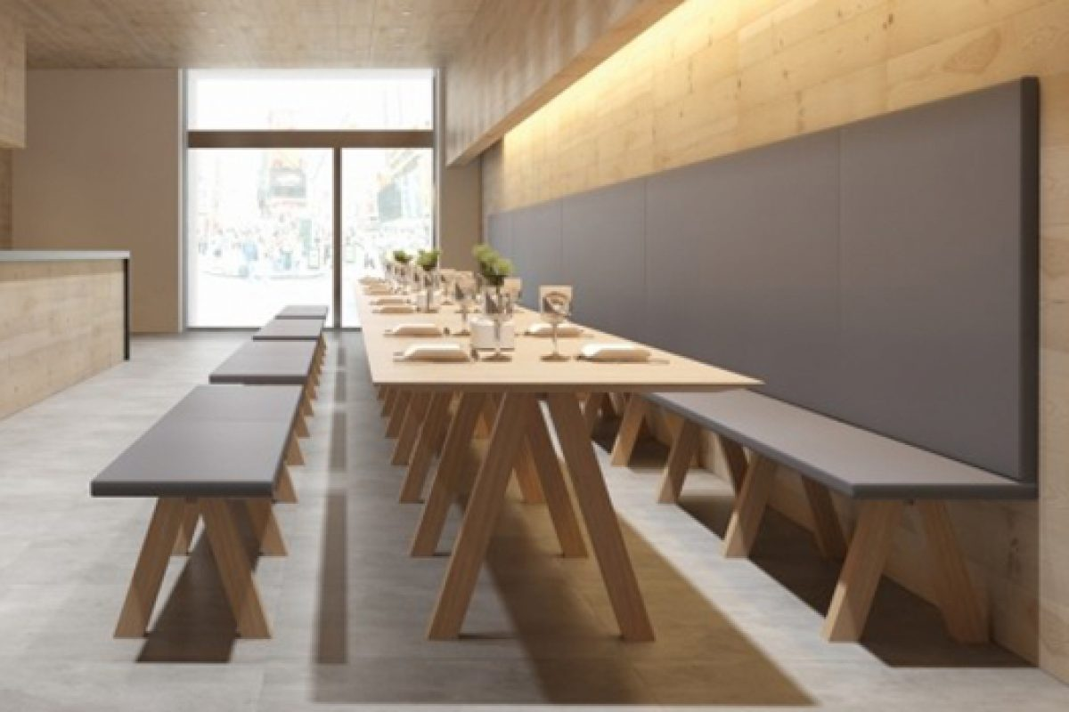 Trestle: Bench seating and matching table by Viccarbe. Back to basics by the hand of John Pawson