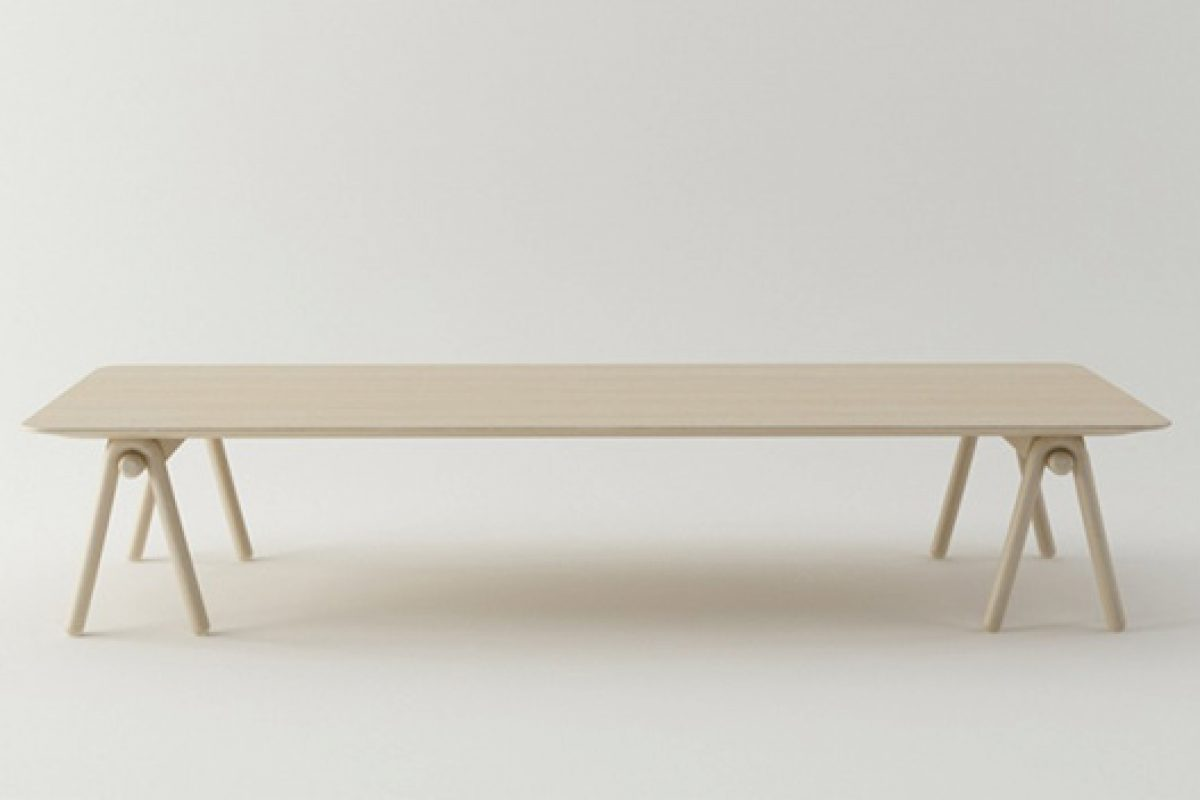 Stone Designs creates the Stick table for Actus Japanese brand as a space to share and relax