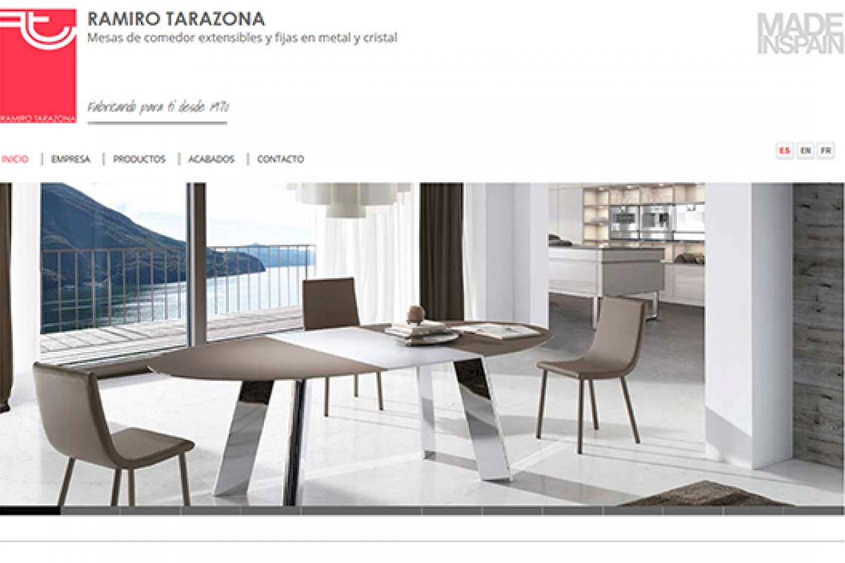 Ramiro Tarazona presents its metal furniture catalogue through its new website