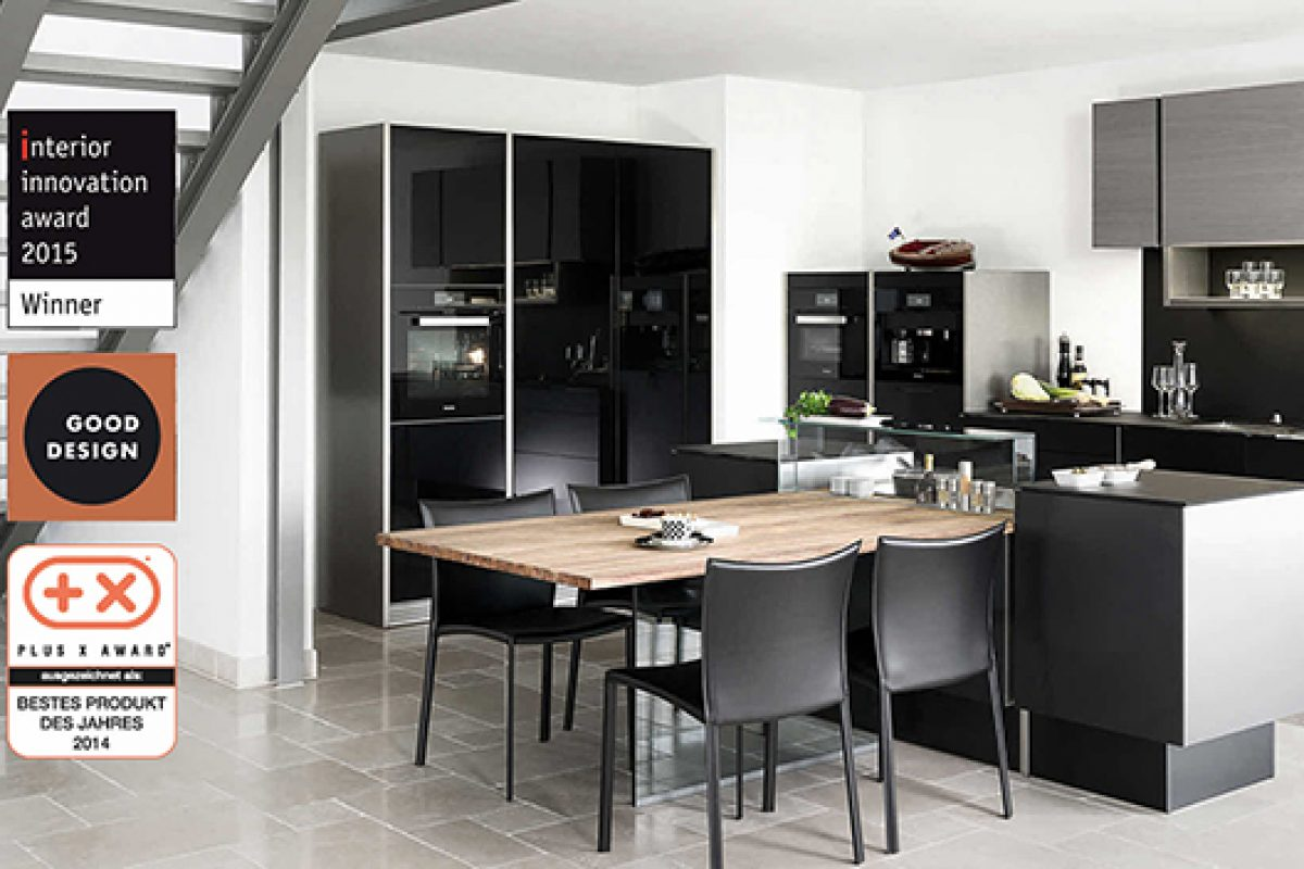 P'7350 kitchen by Poggenpohl wins two new leading design awards, Interior Innovation Award 2015 and Good Design Award 2014