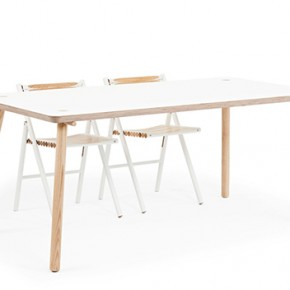 Stip, a friendly and modest dining table designed by Reinier de Jong