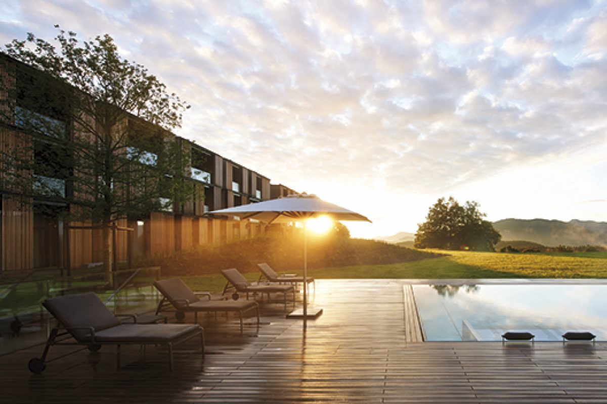 Kettal furnishes the Lanserhof Tegernsee health complex and hotel in Insbruck, designed by Ingenhoven Architects
