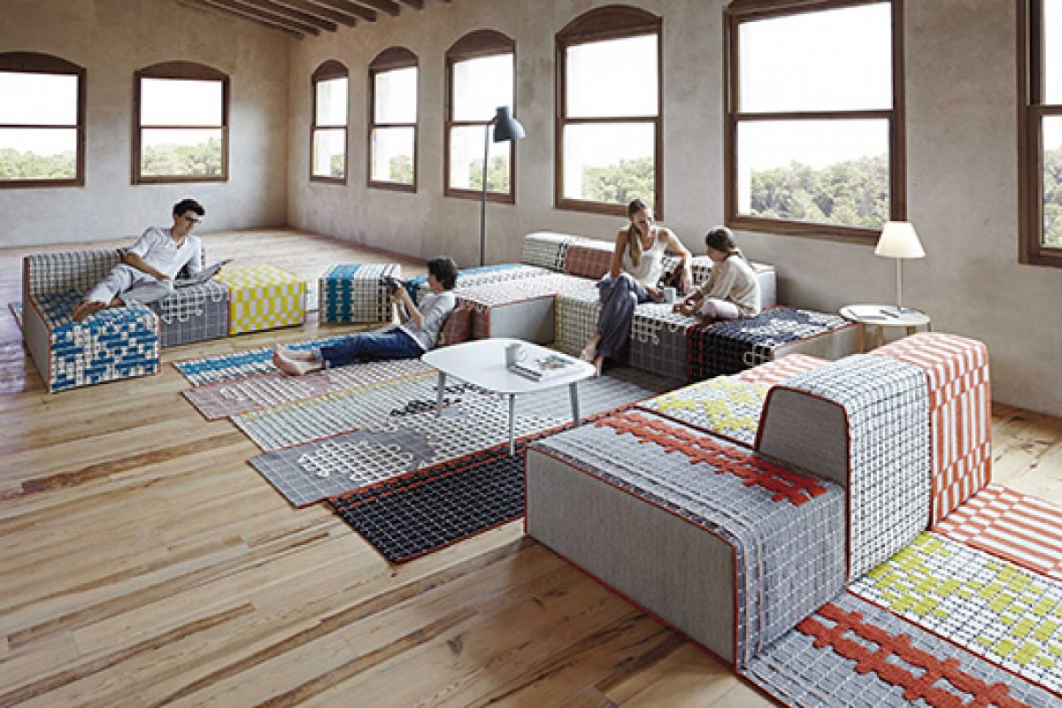 "Bandas, the art of the Indian ""handmade"" in rugs and furniture designed by Patricia Urquiola for GAN"