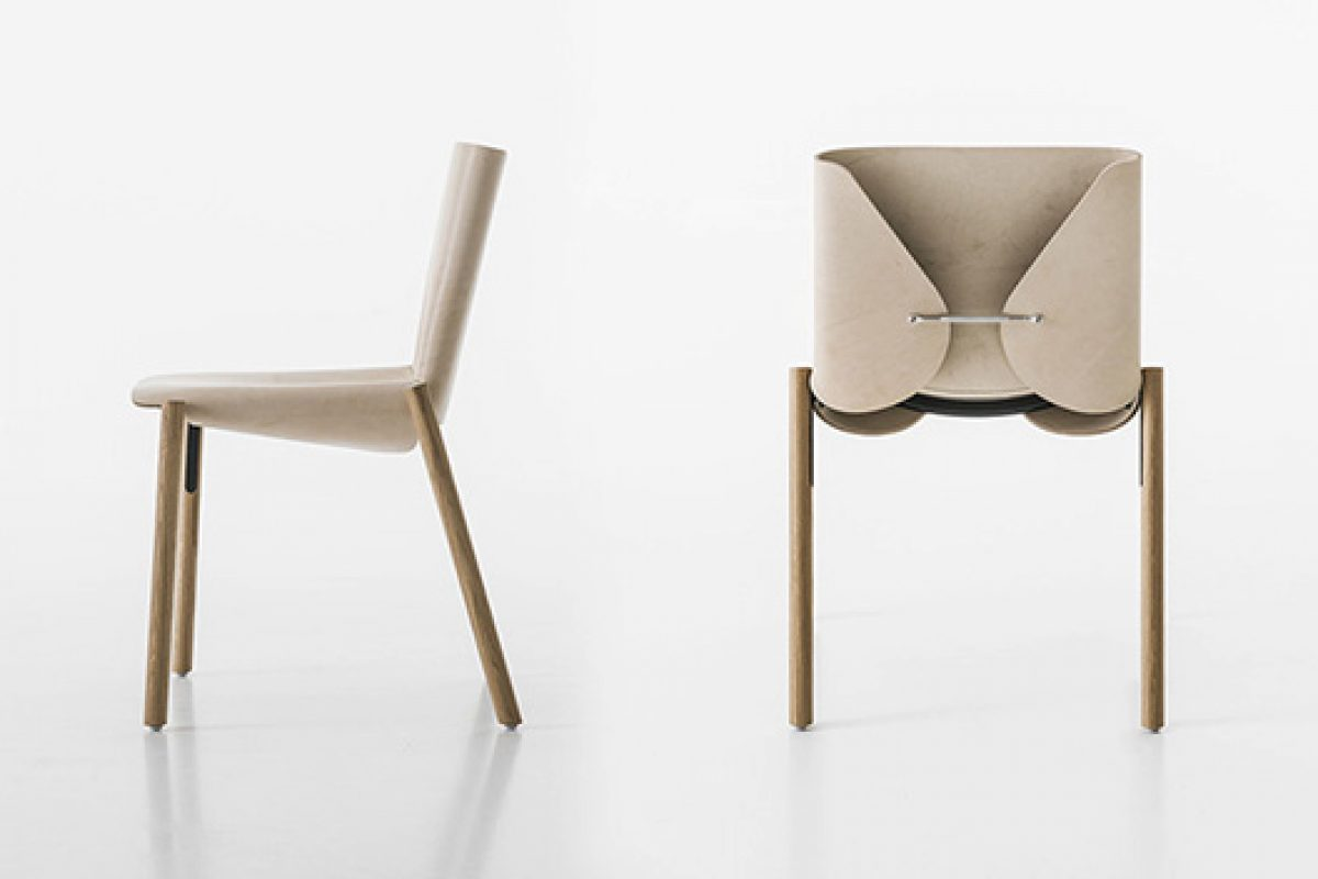 Bartoli Design dressing haute couture the 1085 Edition chair for Kristalia