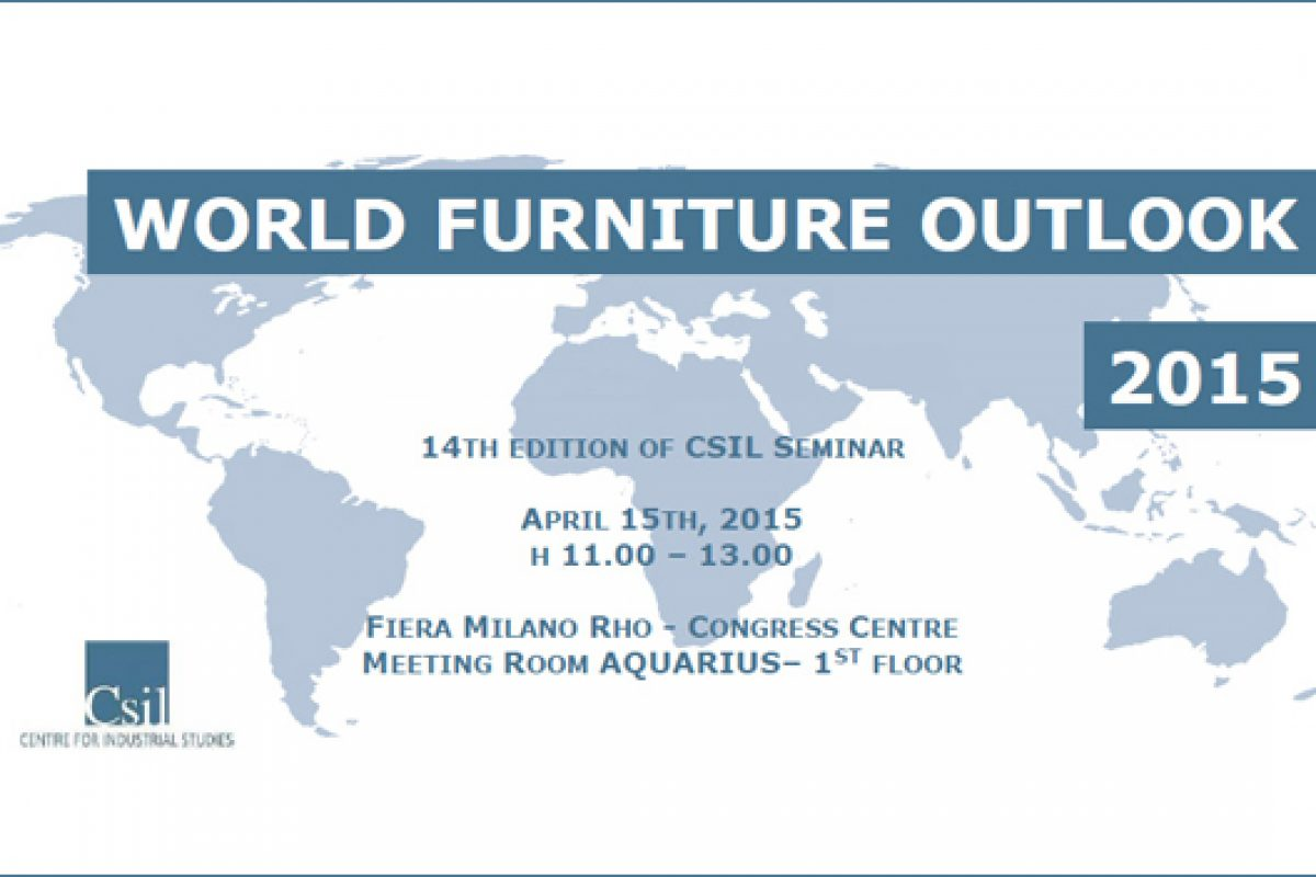 The World Furniture Outlook 2015 will be introduced during the Salone del Mobile in Milan