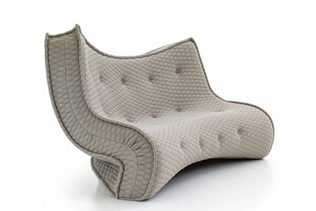Ron Arad designs two sofas with surprising shapes for Moroso Collection
