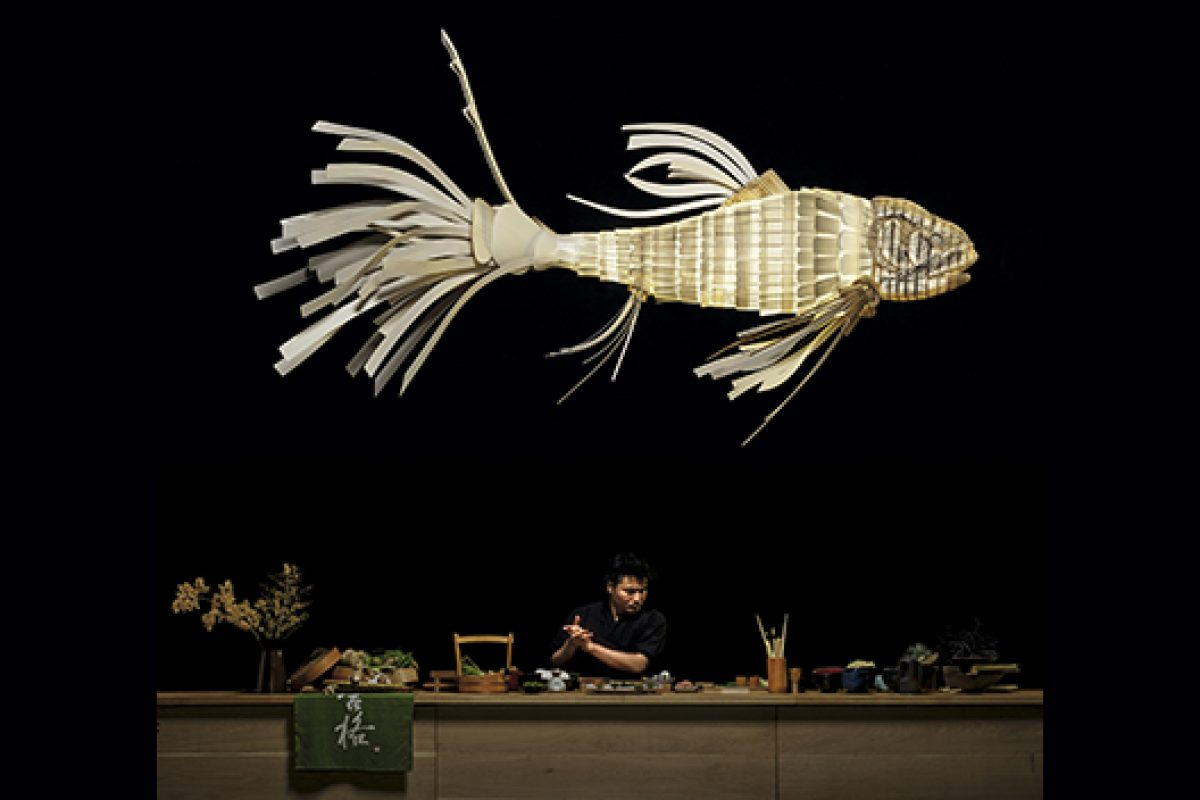 The interesting story of Koi, a spectacular carp made of light and wood of over 3 meters by LZF