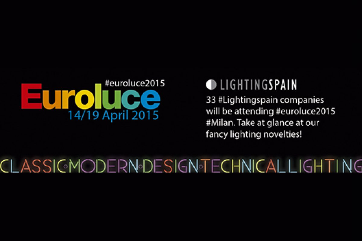 33 Spanish lighting companies will be present in Euroluce 2015 under the brand LIGHTINGSPAIN