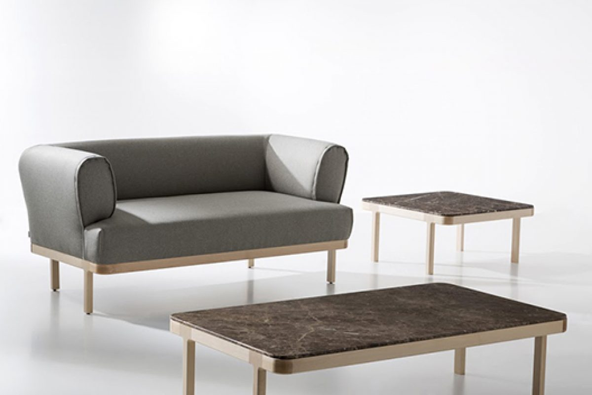 Zip, the armchairs and coffee tables designed by edeestudio and produced by B&V