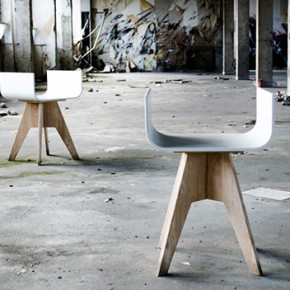 Thierry Wille designs the Taboustool with HI-MACS®, a metropolitan and vaguely industrial-style piece