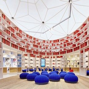 Vitra and Camper join in the pop up store designed by Francis Kéré Diébédo at the Vitra Campus