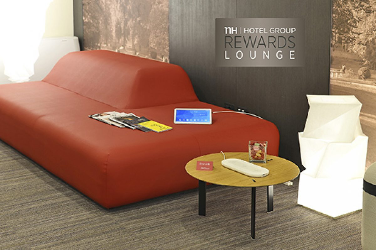 The Mediterranean comfort by Viccarbe furnishes NH Hotel Reward Lounges in Milan during the Expo 2015
