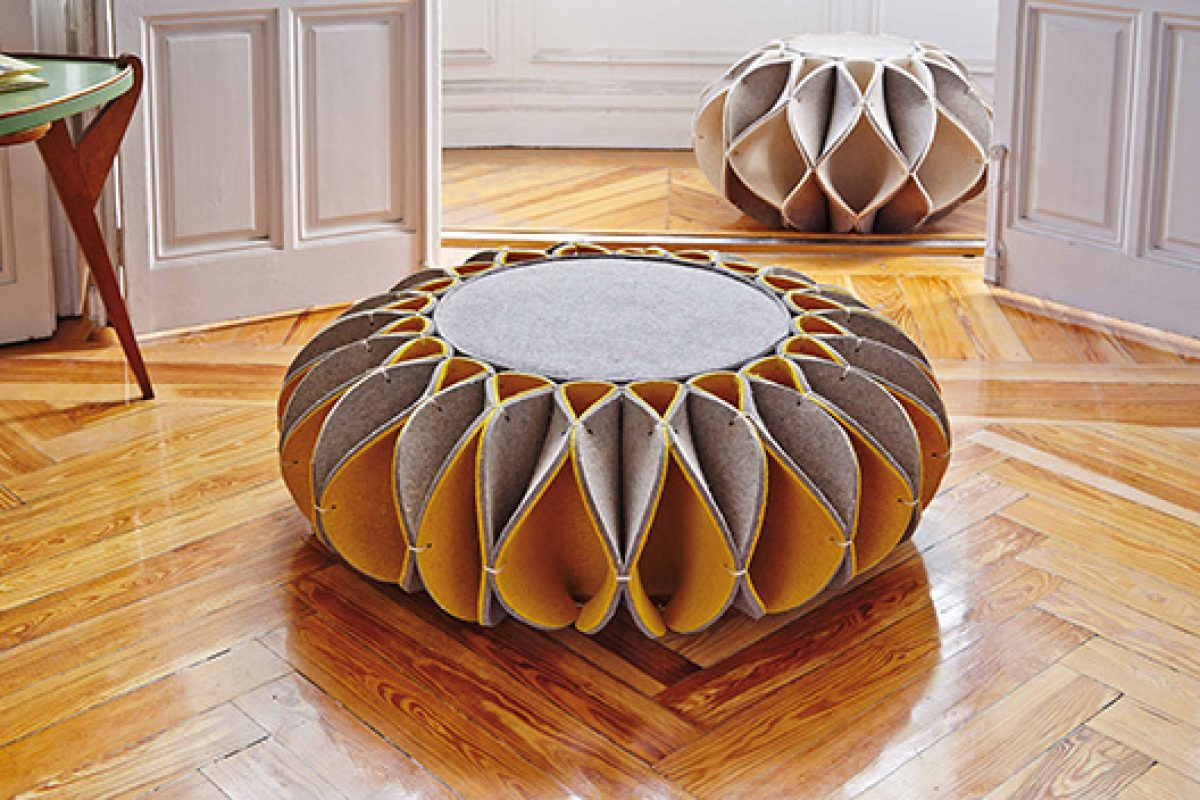 Romero Vallejo designs Ruff Pouf, seating on circles by Gan