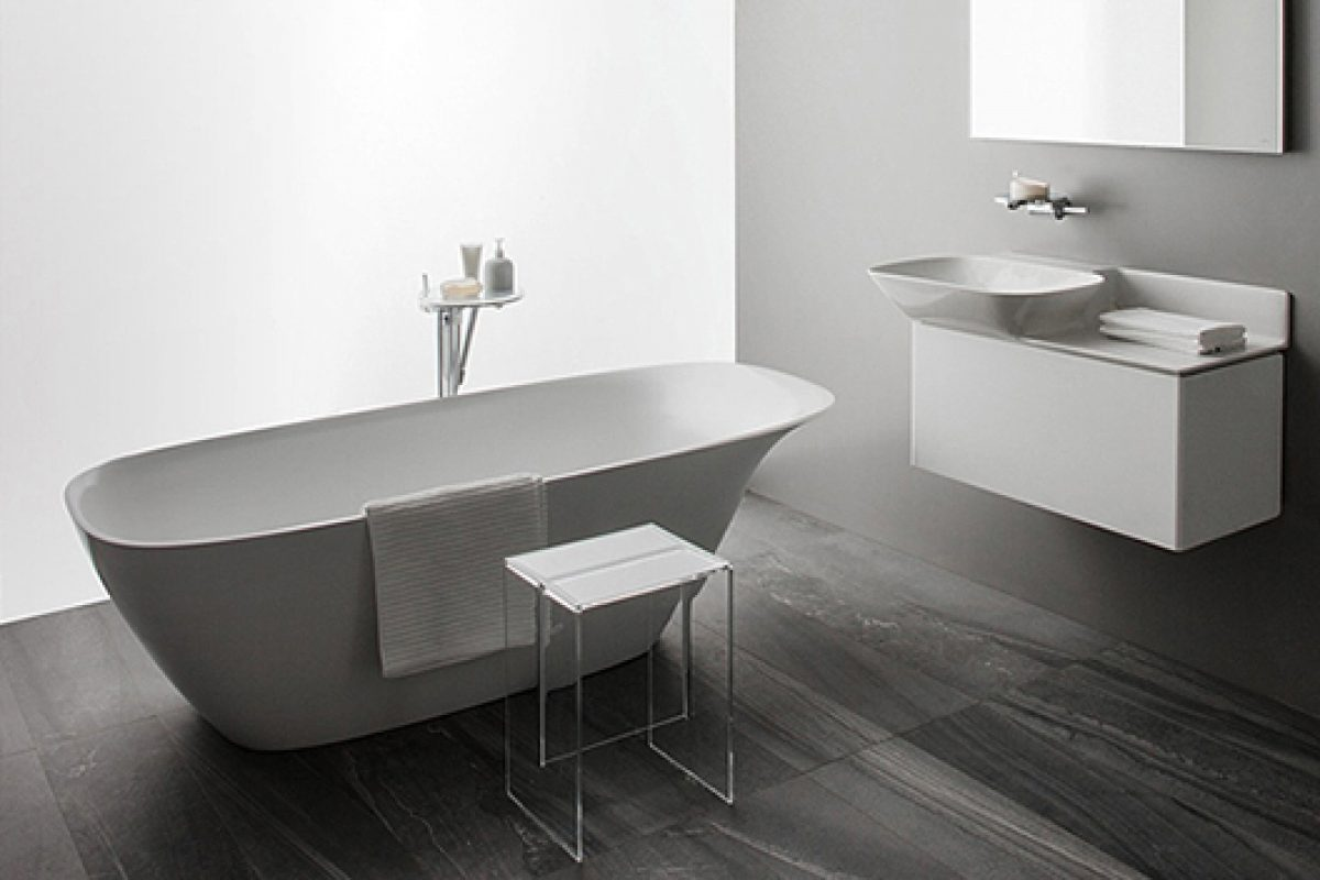 Ino, a reinterpretation of the classic washbasin shape designed by Toan Nguyen for Laufen