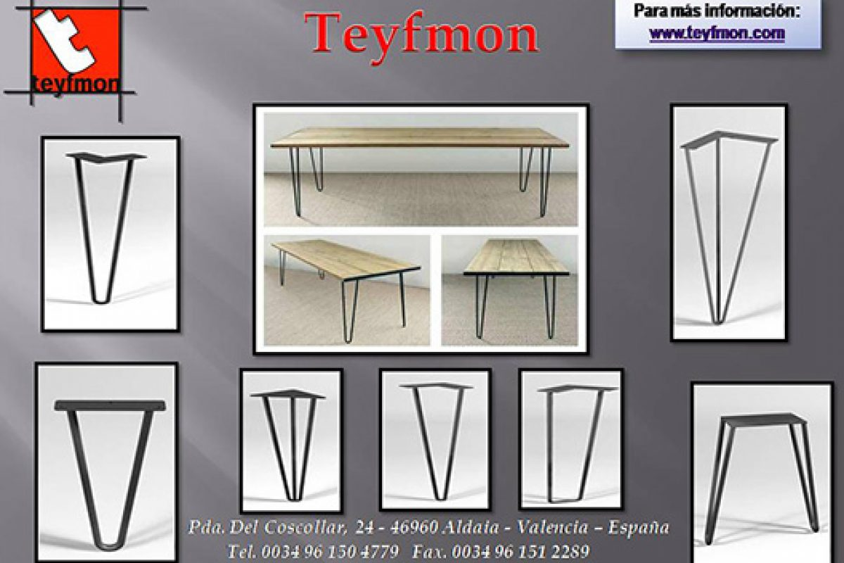 Teyfmon presents the trend in metal legs for tables