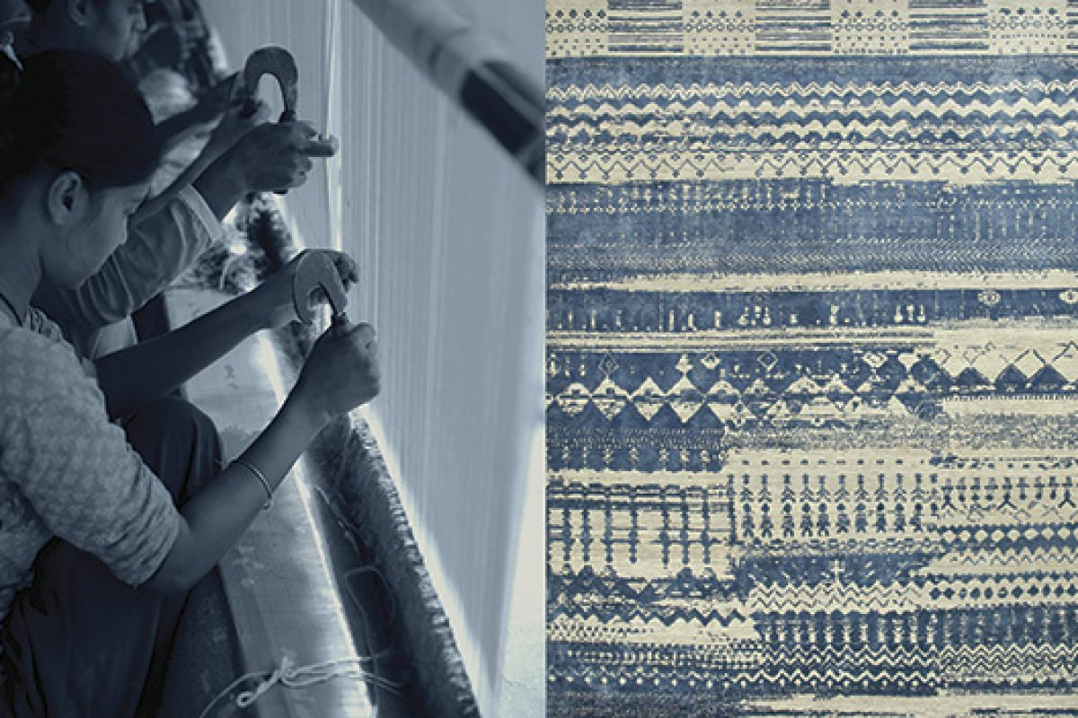 """Anthar, the carpet by Jaipur Rugs of its """"Project Error"""" collection, when an error becomes a work of art"""