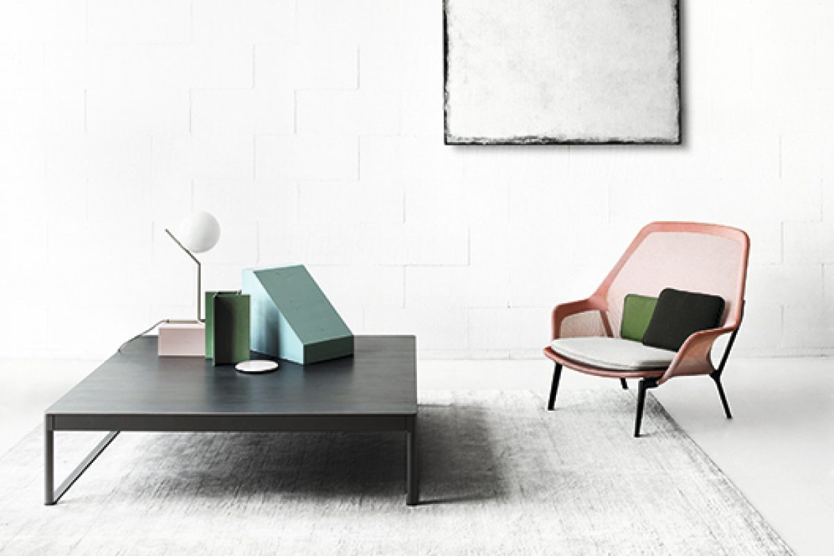 imm cologne 2016 preview: Low table and console of Icaro 015 collection by Desalto, designed by Caronni + Bonanomi