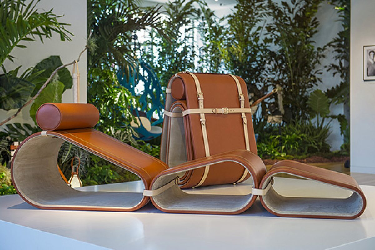 Marcel Wanders launches Lounge Chair for Louis Vuitton. Decorative and functional luxury for traveling souls