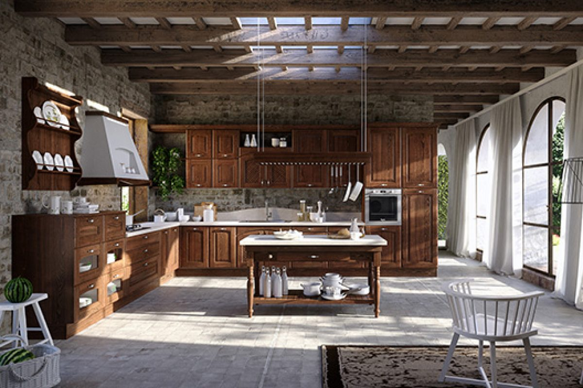 EuroCucina 2016 preview: Trevi by Aran Cucine, a kitchen inspired by country cottages for city life