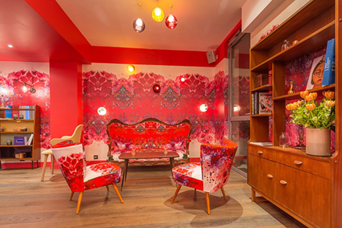Interior designer Julie Gauthron collaborates with street artists to give Hotel Exquis a vibrant and surrealist edge