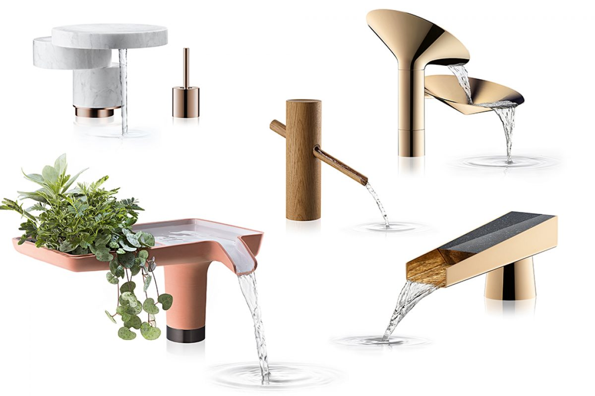 "Axor invites designers to  ""create your own spout"" with alternative materials and  forms"