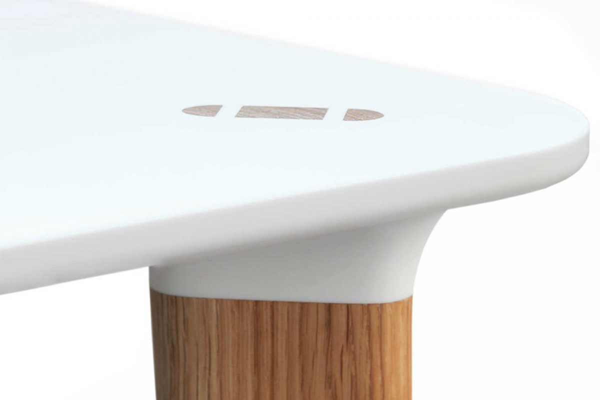 BUFF by Karl Andersson & Söner, a collection of retro style tables made of HI-MACS®