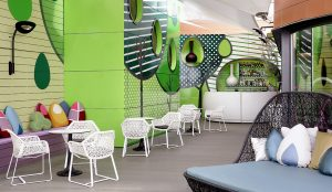 Sky Lounge Indigo Hotel. An urban garden at Madrid center by Teresa Sapey