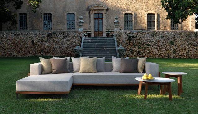 Cleo by Marco Acerbis for Talenti. A design for indoors suitable for outdoors