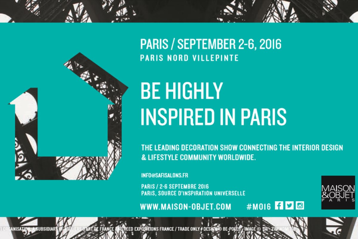 Value novelties at Maison&Objet Paris September 2016
