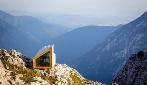 Building Materials tested in extreme weather conditions at an Alpine shelter in Skuta, Slovenia